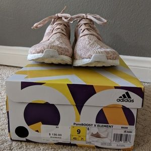 adidas Shoes - Adidas Pureboost X Element size 9 tan/pink